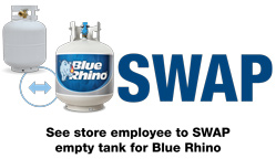 SWAP empty tank for Blue Rhino